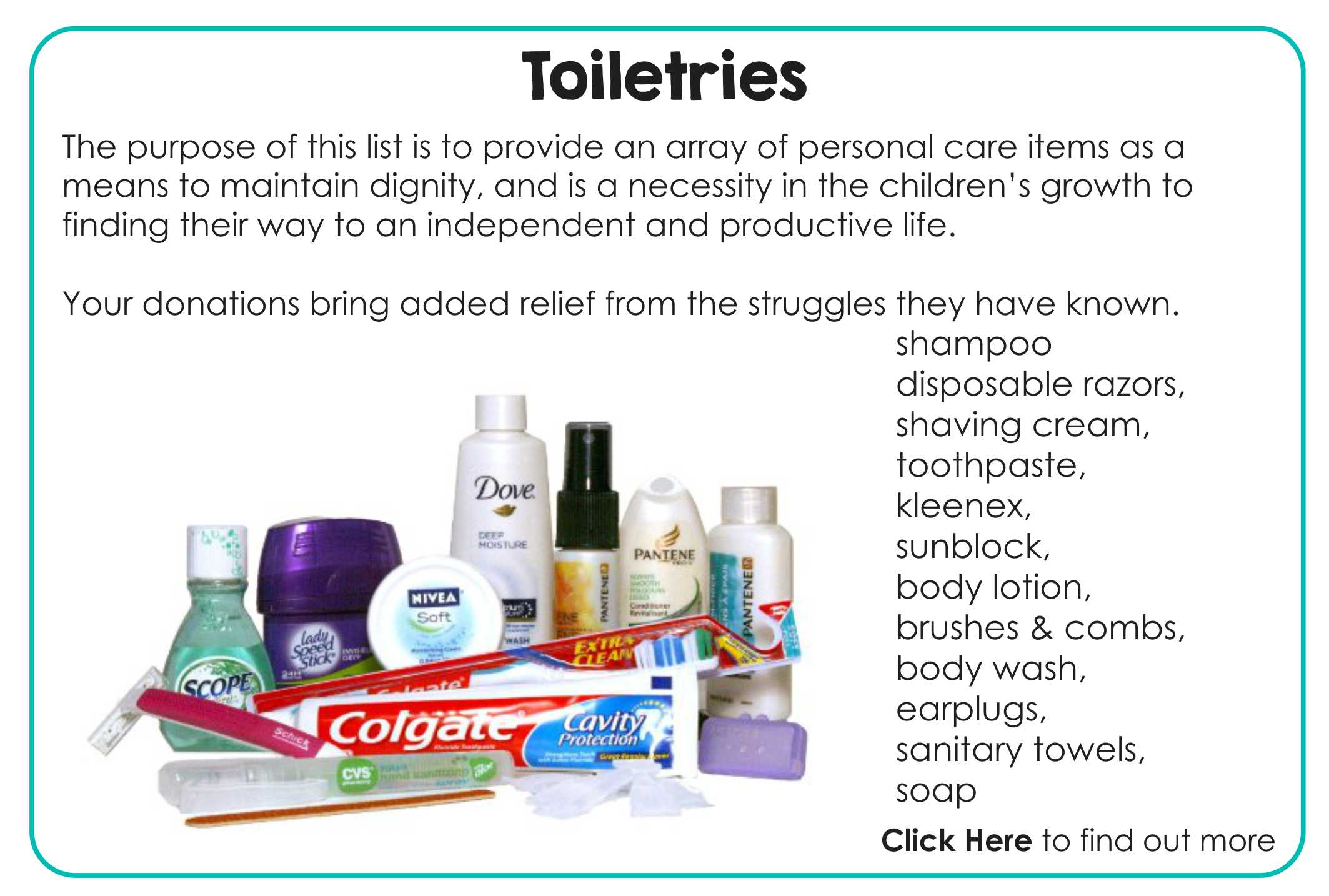 get involved toiletries